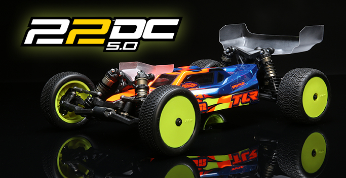 TLR 22 5.0 DC Race Kit: 1/10 2WD Buggy Dirt/Clay