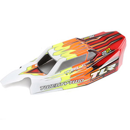 Team Losi Racing TLR230010 Light Weight Body /& Wing Clear w Stickers 22 4.0